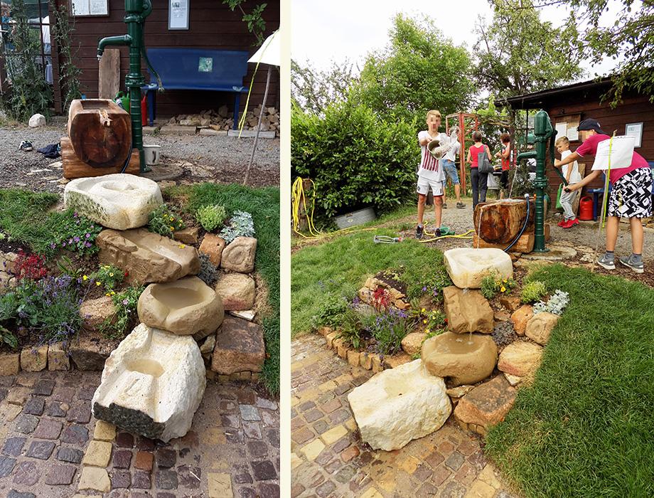 Projekt Wasserspielplatz Agenda Garten
